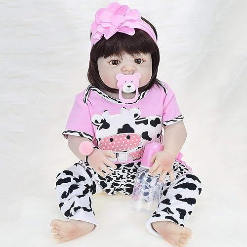 buena calidad WOSOSYEYO 57 cm de Silicona niña renacer bebés muñeca muñeca muñeca baño de Juguete Realista bebé recién Nacido muñeca  diseñador en linea