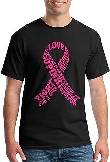 Threadrock Men's Breast Cancer Awareness Typography T-Shirt