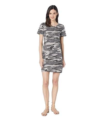 Dylan by True Grit Vintage Camo Short Sleeve Tee Dress (Linen Grey) Women