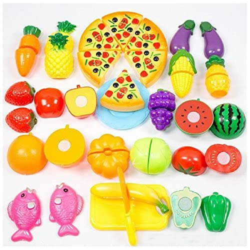 2eda3fbbd Reasoncool Pretend Play Food Toys, 24PC Kitchen Dinner Cutting Treat Fun  Play Food Toy Set