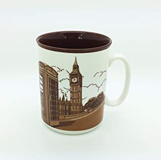 Sterling Product SP140B Premium Quality Embossed Printed 400 ml Coffee Mug, Ceramic, 400 milliliters