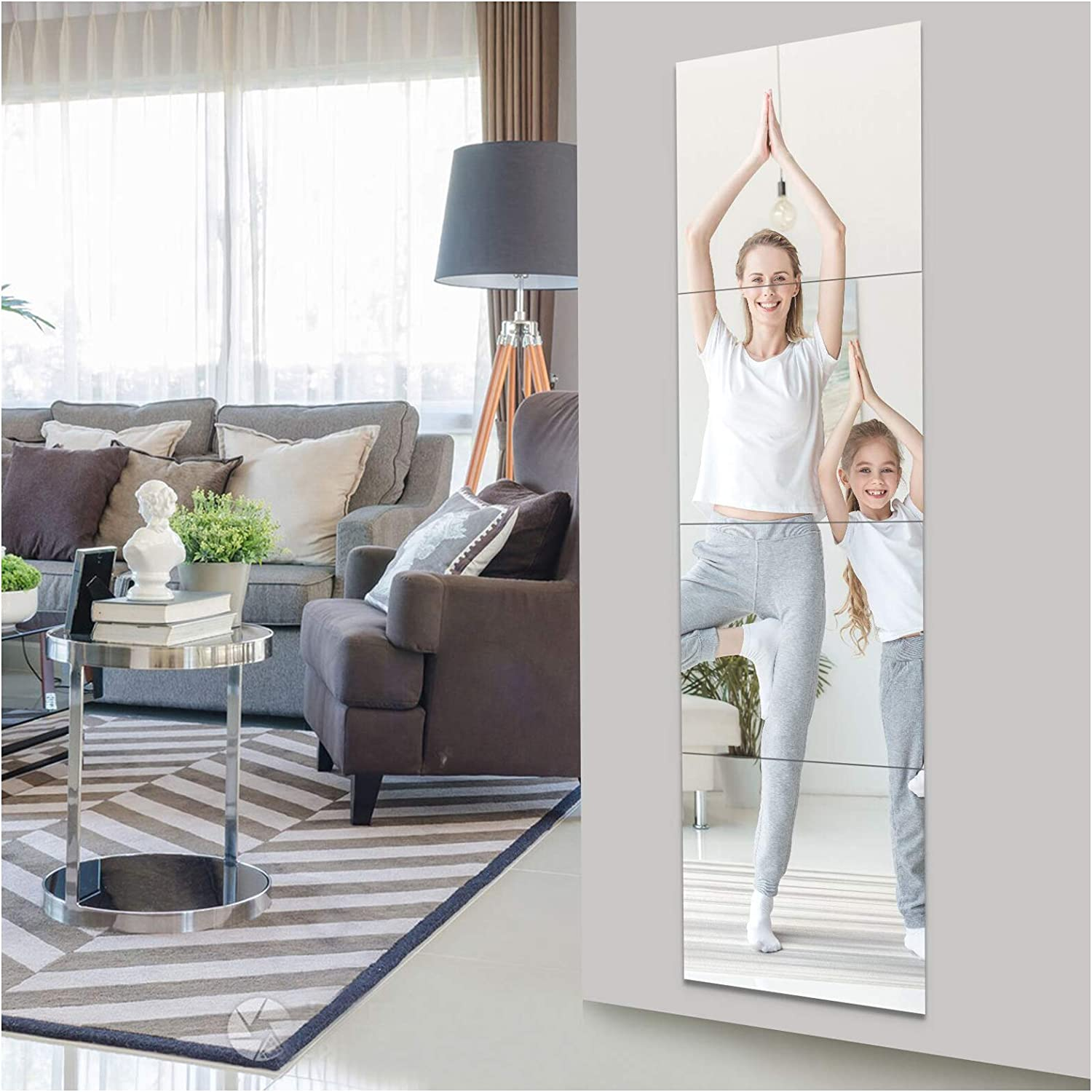 EVENLIVE Full Length Mirror Pieces Tiles-14 Frameless Discount mail order Inch×4 67% OFF of fixed price