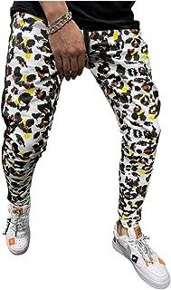 MogogoMen Active Camo Casual Drawstring Activewear Tapered Jogger Pant