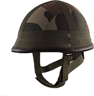 Autofy Camouflage German Helmet with Detachable Strap (Green,Medium)