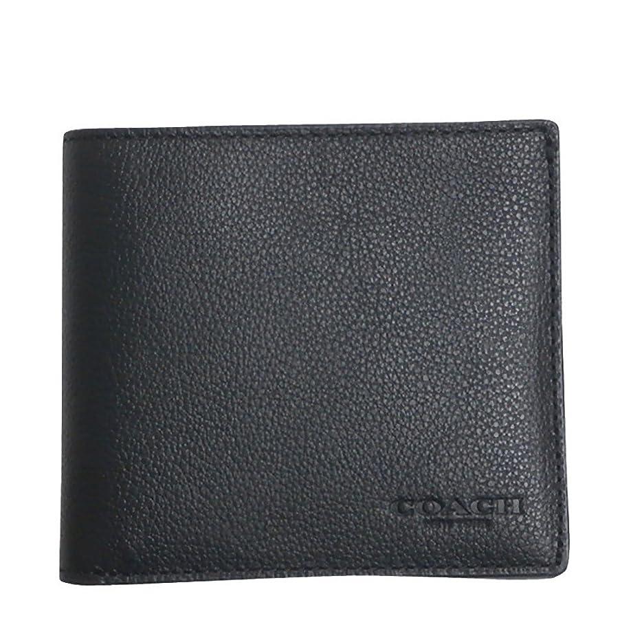 パイル抜本的な例外コーチ COACH 財布 折りたたみ財布 メンズ アウトレット レザー 二つ折り カーフ ビルフォード F75084 BLK ブラック コーチ COACH メンズ