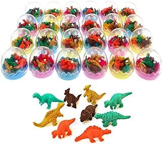 comprar comparacion JZK 24 Huevos Dinosaurio con Poca Goma Juguete Dinosaurio Mini borrar Borrador lápiz Juguete para niños Fiesta a los niños...