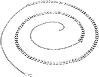 Pink City Non-Precious Metal Silver Plated Belly Chain for Women