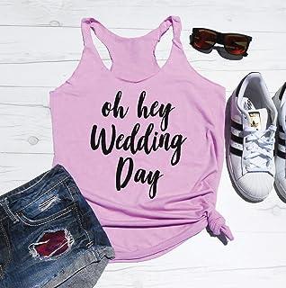 Oh Hey Wedding Day Tank Top, Oh Hey Wedding Day Shirt, Cute Bride Shirt, Getting Ready Tank, Before the Wedding Outfit, Wedding Day Tank