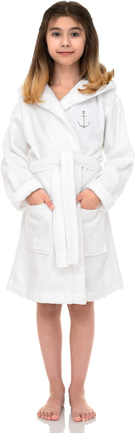 TowelSelections Girls Beach Cover-up, Kids Hooded Cotton Terry Pool Cover-up: Clothing, Shoes & Jewelry