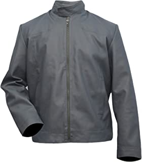 Tom Cruise Mission Impossible 6 Fallout (Ethan Hunt) Grey Sheep Leather Jacket, XXS - 3XL