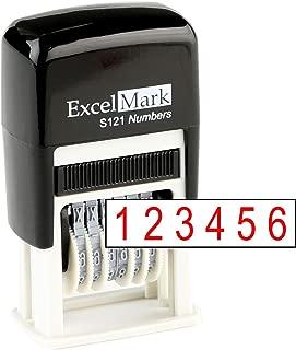 Number Stamp, Self Inking, Red Numbering Stamp, 6 Digit