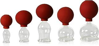 5Set Ventosa de Cristal con Pelota de 20–30–40–50–60mm para Profesionales, médicos, ventosaterapia soplado, handgeformt, Lauscha–Ventosas, Vasos, Lauscha el Original