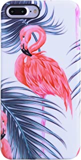 iPhone 7 Plus Case,iPhone 8 Plus Case,Flamingo and Leaves,VIVIBIN Shock Absorption Matte TPU Soft Rubber Silicone Cover Phone Case for iPhone 7 Plus/8 Plus 5.5inch