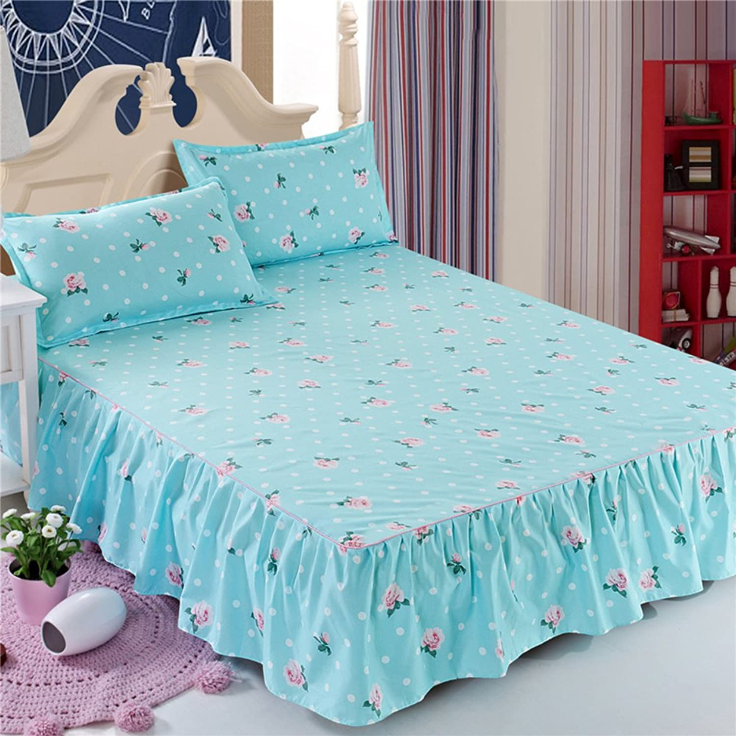 GX&XD Bed Skirt Bedspread Bed Sets Single Bed Cover Sheet-X 180x200cm(71x79inch)
