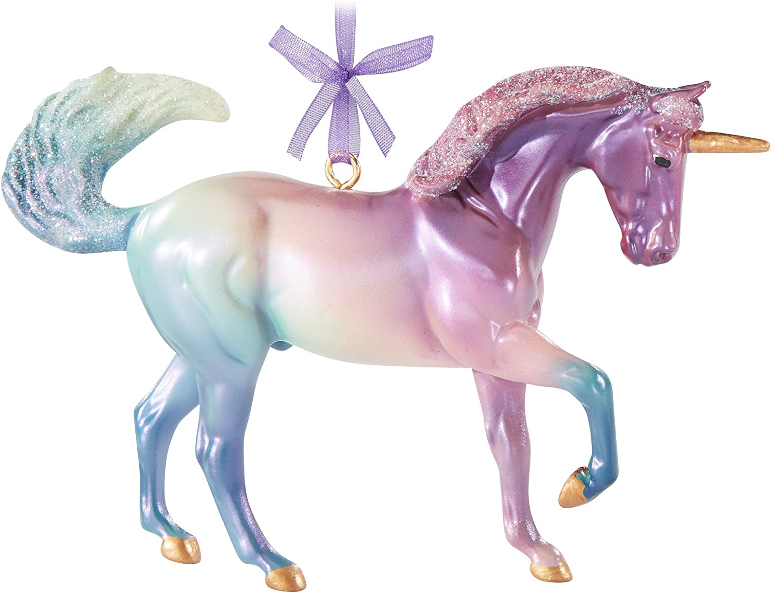 Amazon Com Breyer Horses 2020 Holiday Collection Unicorn Ornament Cosmo Model 700654 Toys Games
