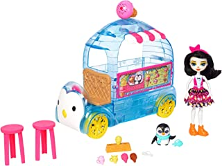 "Enchantimals 6"" Preena Penguin Doll and Ice Cream Truck Playset [Amazon Exclusive]"