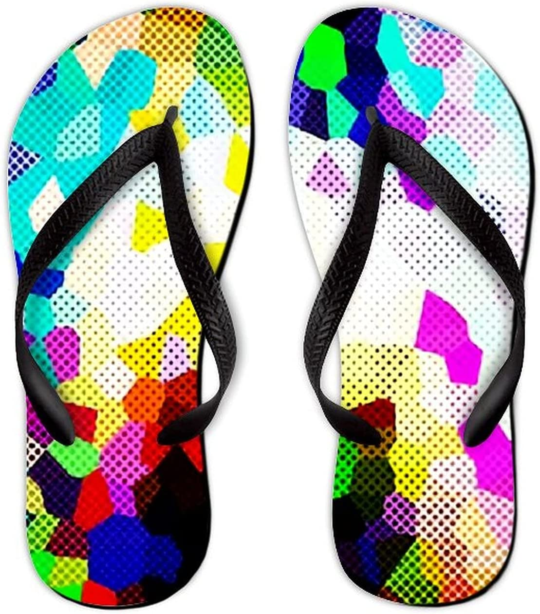 security UTF4C Summer Flip Flops Bombing new work for Multicolor Women Men Abstract Color