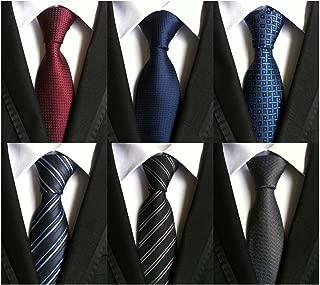 WeiShang Lot 6 PCS Classic Men's Tie Silk Necktie Woven JACQUARD Neck Ties