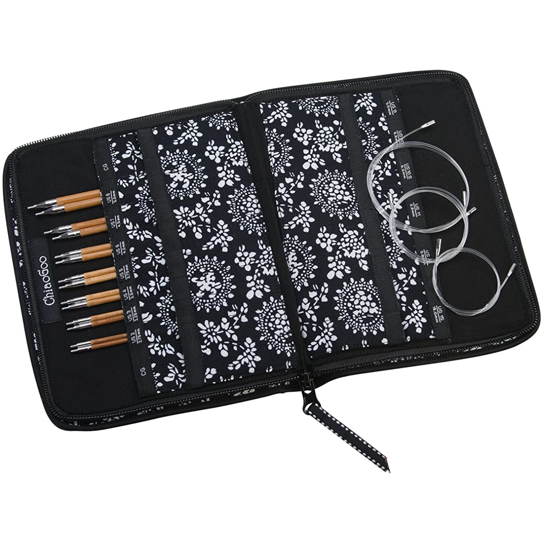 ChiaoGoo Spin Interchangeable Knitting Needle Set, Small