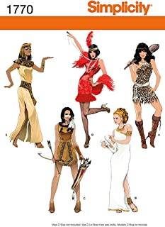 Simplicity 1770 Women's Halloween Costume Sewing Patterns, Sizes 12-20