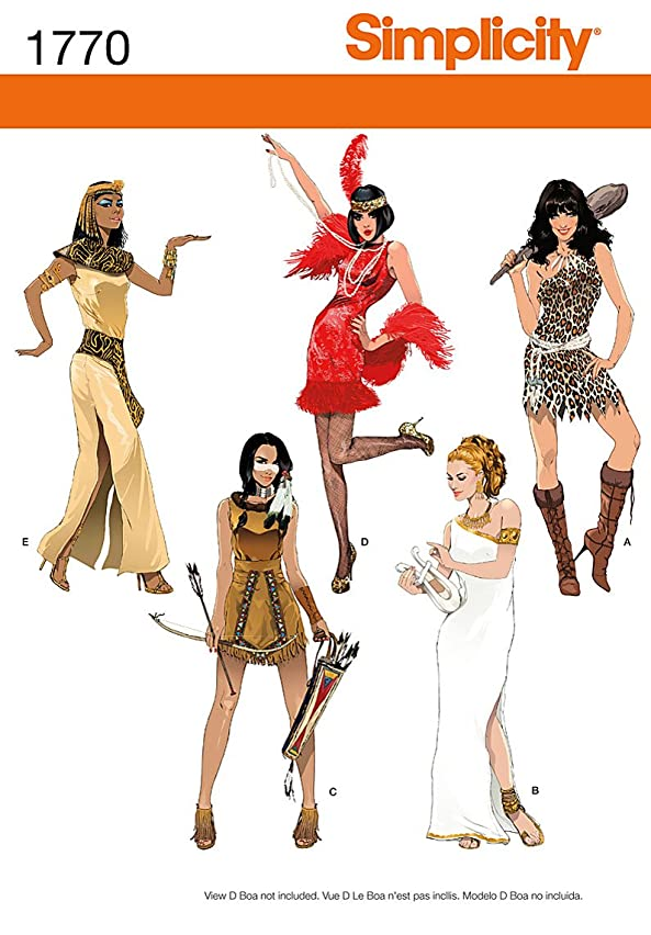 Simplicity 1770 Misses' Costumes Sewing Pattern, Size H5 (12-14-16-18-20)