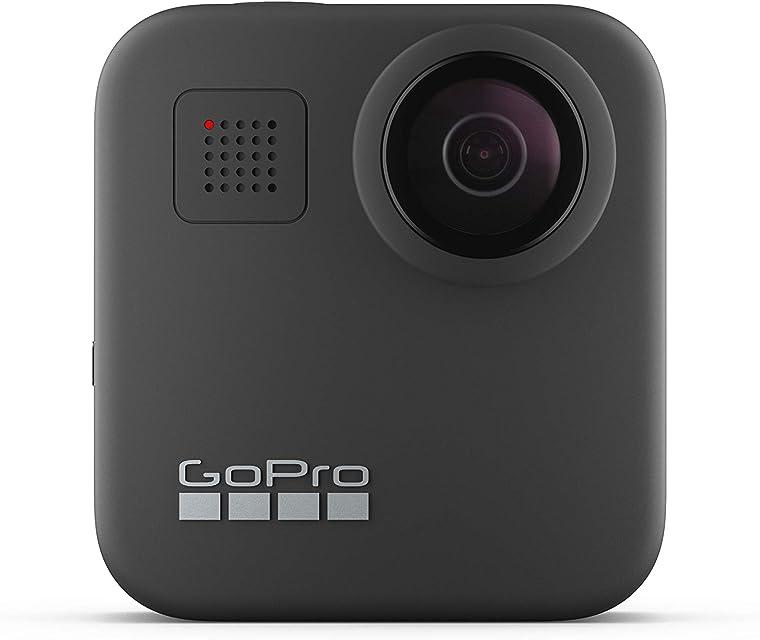 GoPro MAX Cámara de Acción Digital a Prueba de Agua 360 con Estabilización Irrompible Pantalla Táctil y Control de Voz Bluetooth USB Wireless GoPro Quik Black
