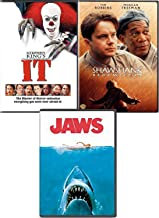 Prison Water Classics Stephen King Shawshank Redemption & It Pennywise the Clown Horror Movie + Jaws DVD 3 Feature movie Scare bundle