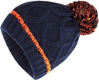 قبعة شتوية للأطفال من Demulix مصنوعة من الصوف الناعم الدافئ المبطن بلونين قبعة صوفية للأطفال للبنات والأولاد