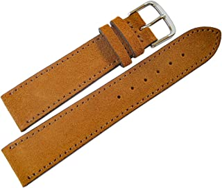 Fluco 20mm Saddle Suede Leather Watch Strap