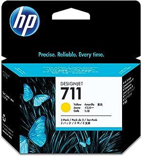 HP 711 3-pack 29-ml Yellow Designjet Ink Cartridge (CZ136A) for HP DesignJet T120 24-in Printer HP DesignJet T520 24-in Pr...