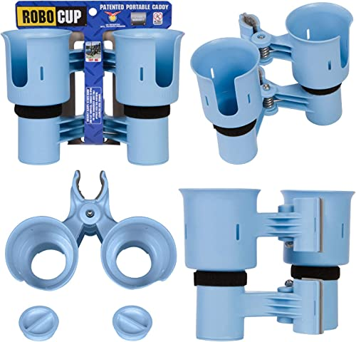 RoboCup Patented Portable Caddy Clampable Drink Cup Holder & Rod Holder