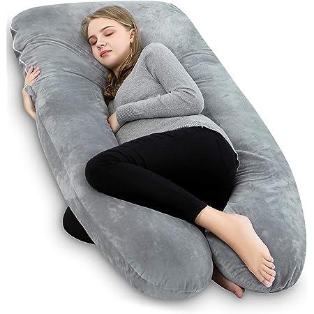 Meiz 抱き枕 U型 妊婦 枕 マタニティ用品 授乳クッション もちもち ボディピロー 背もたれ 洗える 母のプレゼント