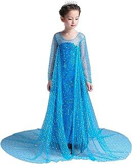 Dressy Daisy Girls' Princess Elsa Costumes Snow Queen Princess Dress Fancy Party Dress Sequined
