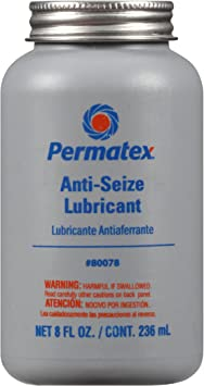Permatex 80078 Anti-Seize Lubricant with Brush Top Bottle, 8 oz.: image