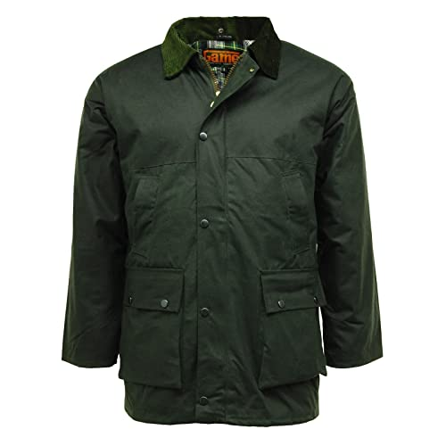 7fcf18770 Game British Quilted Padded Country Wax Cotton Rain Jacket