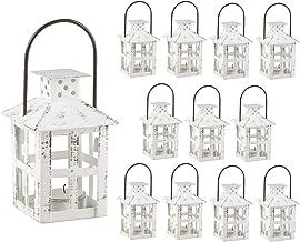 Kate Aspen Decorative Lanterns, Distressed Metal Vintage Mini Wedding Lantern, Centerpiece for Wedding Table, Accent Piece...