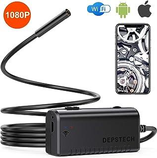 DEPSTECH 1080P WiFi Endoskopkamera Handy Endoskop, 2.0 Megapixel HD Rohrkamera Doppelantennen Halbsteife Kabel Inspektionskamera IP67 wasserdichte für Android, iOS, Smartphone, Windows, Tablet  3.5M