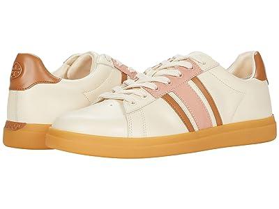 Tory Burch Howell T-Saddle Court (New Cream/New Cream/Pink Moon) Women
