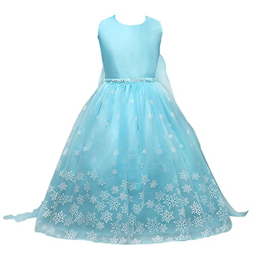 99714d4c7f9e Acecharming Chiffon Dress, Girls Sleeveless Snowflakes Pattern Princess  Style Fancy Party Elsa Dress