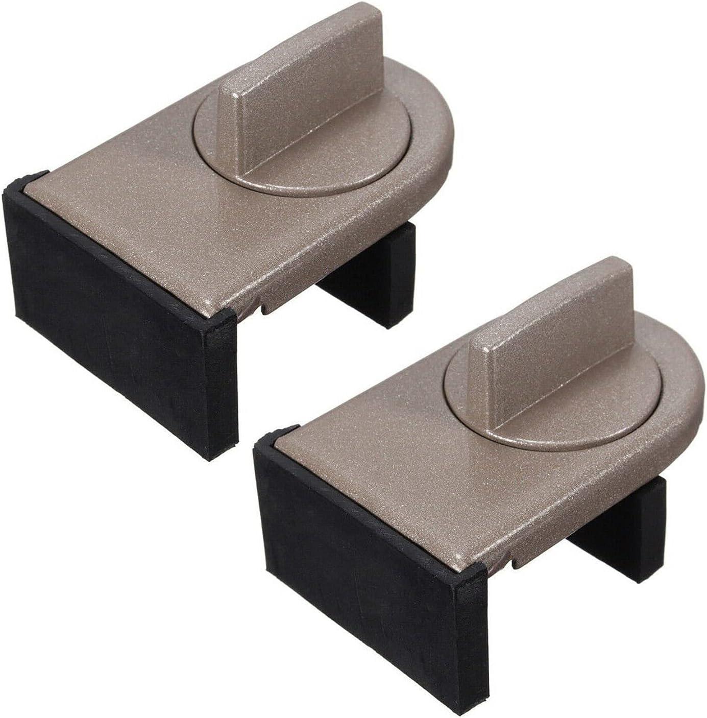 2 cerraduras de tope de hoja deslizante, herramienta de bloqueo de seguridad para ventanas deslizantes y puertas deslizantes (gris)