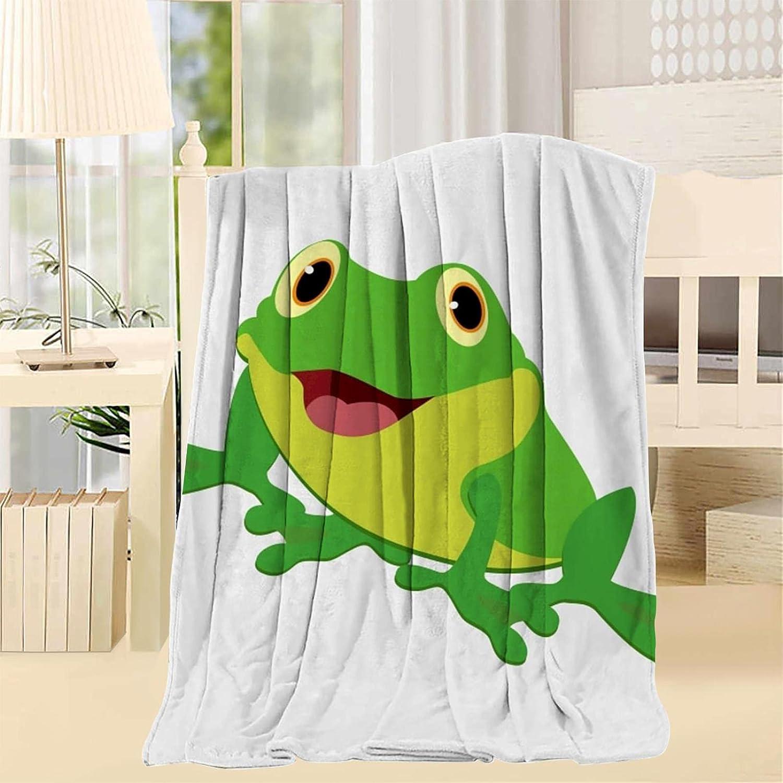 HGJHKOKM Frog Kids Kansas City Mall Warm Soft Fabric Fuzzy Throw Inspirational Su Our shop most popular