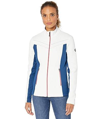 Spyder Encore Full Zip Fleece Jacket (White/Abyss) Women