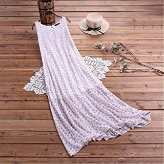 Women'S Floral Print Halter Skirt Fashion Summer Long Dress