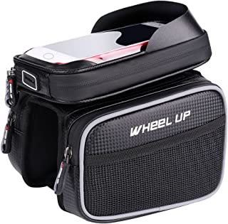 MF-HOME Bike Frame Bag,Bicycle Bag for Cell Phone,Waterproof 6.2 inch Touch Screen Mobile Phone Bag Bicycle Accessories