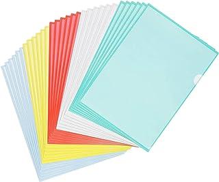 STARVAST 30 Pcs Chemise Plastique A4 - Pochette Porte Document A4,pour Classification Documents - 31X22cm - Couleurs Assor...