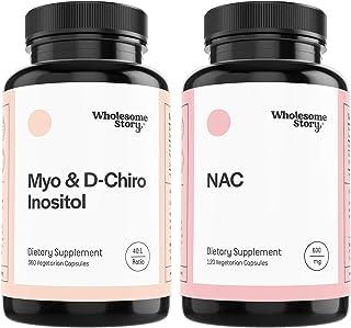 Myo & D-Chiro Inositol (90-Day Supply) + NAC | Hormone Balance, Healthy Ovarian Function, Fertility & Mucolytic Support | ...