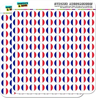 """France National Country Flag 1/2"""" (0.5"""") Planner Calendar Scrapbooking Crafting Stickers - Opaque"""