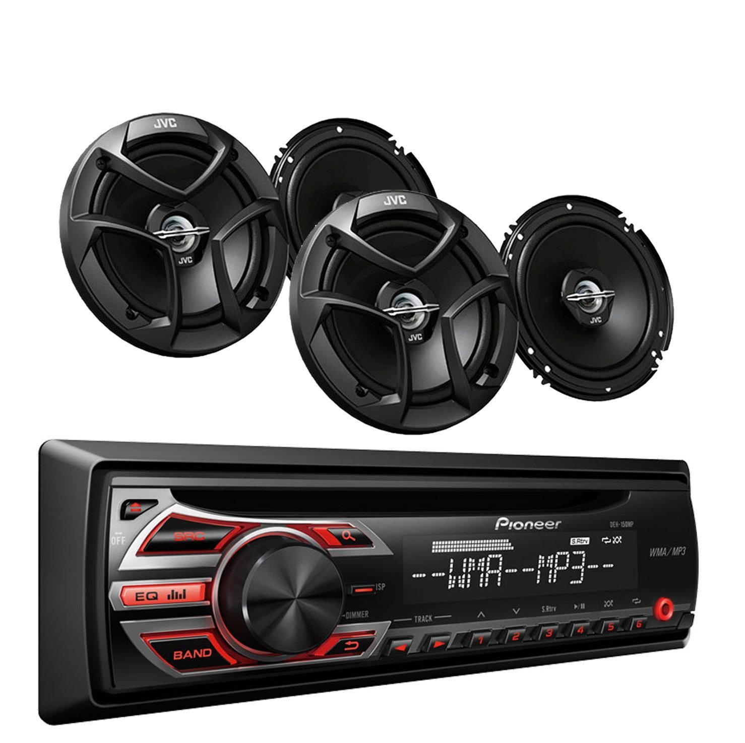 car stereo kits with speakers amazon compioneer deh 150mp car audio cd mp3 stereo radio player, front aux input with