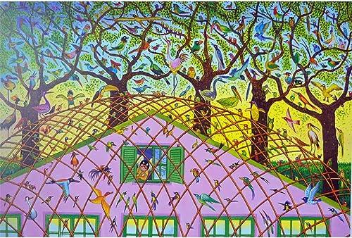 DesignPT Entworfene Illustration Dreamland, Holzpuzzle, Fantasie dekorative Malerei, Fine Cut & Fit 500  2000pc Boxed Toys Game Art für Erwachsene & Kinder ( Farbe   D , Größe   1500pc )