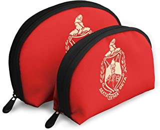 Delta Sigma Theta Makeup Bag Cosmetic Pouch Travel Organizer Toiletry Clutch